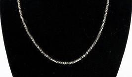 "Vintage .925 Sterling Silver Popcorn Chain 7 3/4"" Hook Latch Clasp Neckl... - $26.99"