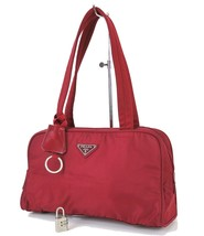 Authentic PRADA Red Nylon Tote Hand Bag Purse #32730 - $195.00