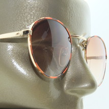 Metal Wire Frame Gold Browns +1.50 Lens Tint Bifocal Reading Glasses Sunglasses - $15.97
