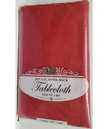 """Peva Vinyl Tablecloth 52"""" x 90"""" Oblong (6-8 people) RED COLOR, BH - $12.86"""