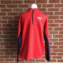 Washington Capitals 1/4 Zip Fleece Lined Pullover Jacket w/ Side Pockets... - $16.48