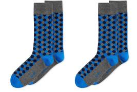 Pack of 2  --Alfani Mens Hexagon Midweight Socks dkturq 10-13 - $10.88