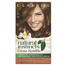 Clairol Natural Instincts Crema Keratina Hair Color Kit, Dark Blonde 7 M... - $16.35
