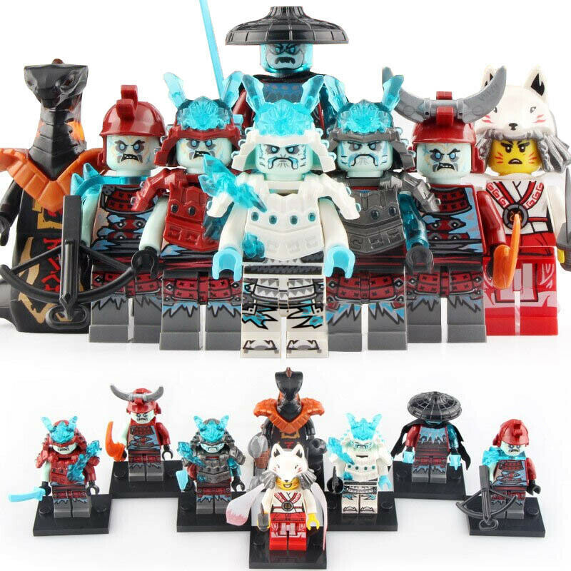 8pcs/set Blizzard Samurai Ninjago Ice Emperor Vex Char Akita Minifigure New - $14.95