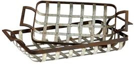 Tray CYAN DESIGN WAFFLE Gold Leaf Rustic Ash Iron New - $155.00
