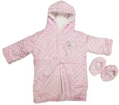 Blankets and Beyond Girls Bathrobe & Slippers Set Pink - $19.99