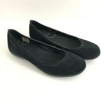 Merrell Womens Ballet Flats Suede Slip On Basic Black Size 7.5 - $29.02