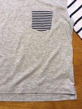 Gap Kids Girl's Gray, Blue & White Striped Pocket Shirt - Size: Medium image 8