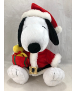 "Holiday Snoopy Woodstock Peanuts Santa Christmas Plush 12""(30.5cm) 8.5"" ... - $25.73"