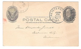 UX18 Reisterstown MD 1908 Duplex Cancel Postal Card - $4.99