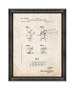 Figure Shaped Blocks With Connectors Patent Print Old Look with Black Wood Frame - $24.95 - $109.95