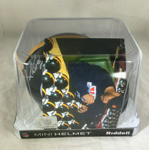 "JEROME BETTIS / NFL HALL OF FAME / AUTOGRAPHED STEELERS MINI HELMET / ""BUS"" HOLO image 8"