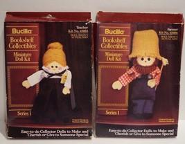 Bucilla Bookshelf Collectibles Miniature Doll Kit Farmer & Teacher - $12.17