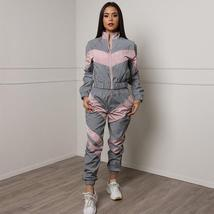 Reflective Clothing Sets Tracksuits 2020 Spring Long Sleeve Zipper Top Elastic W image 2