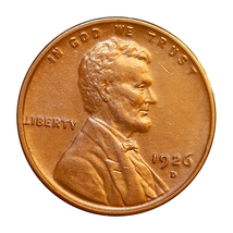 1926 D Lincoln Wheat Cent - Choice BU / MS / UNC - $60.00