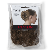 Revlon Twist Spare Hair Curly Updo Synthetic Hairpiece Extension Bun Wrap - $9.99
