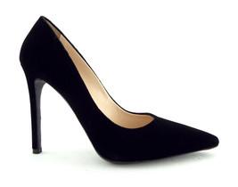 New PRADA Size 7.5 Black Velvet Heels Pumps Shoes 38 Box & Dust Bag - $374.00