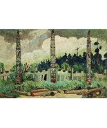 Tanoo, Queen Charlotte Island Painting by Emily Carr Art Reproduction - $31.99+