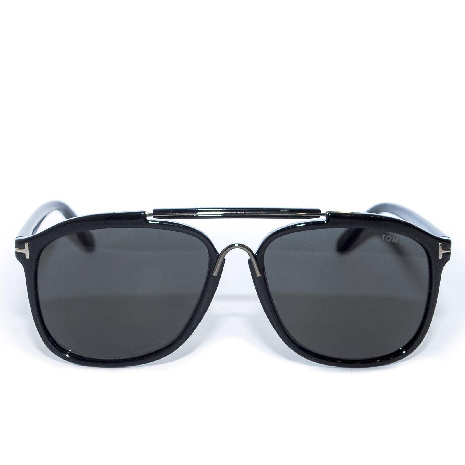 eecac6e2f3 TOM FORD Black Square Sunglasses Plastic Frame Ladies Fashion Eyewear with  Case -  275.51