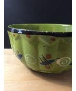 """Vintage 50s Tlaquepaque Mexican Pottery 9 1/2"""" Salad Bowl - $70.00"""