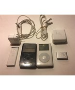 Lot of 2 IPods And 1 Shuffle With Cables And Plugs And Remote - $68.31