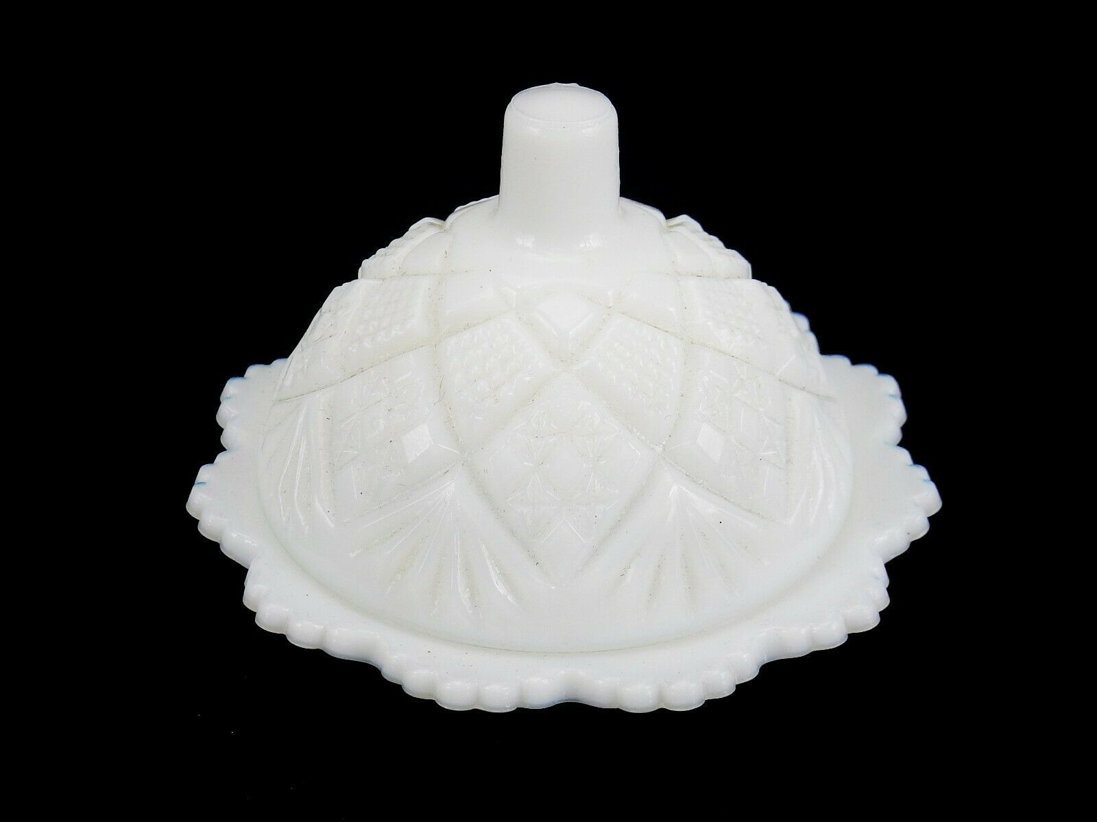 Primary image for VINTAGE WESTMORELAND White Milk Glass Mini Butter Dish W/ Lid Personal Butter