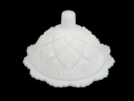 VINTAGE WESTMORELAND White Milk Glass Mini Butter Dish W/ Lid Personal B... - $19.55