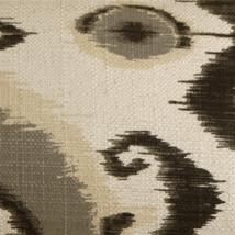 Pillow Decor - Bold Gray Ikat 12x20 Decorative Pillow image 2