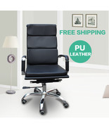 Eames Office Chair Leather Chair Management Executive Ergonomic 360 Swiv... - $129.00
