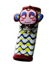 Creative Safe Car Soft Seat Belt Strap Cover, Lovely Catoon Monkey, Brown