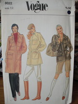 "Vogue Vintage Pattern Misses Size 34"" Bust, Jacket 3 lengths 8022 UNCUT ... - $7.99"