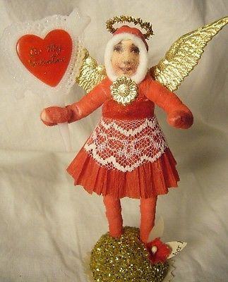 Vintage Inspired Spun Cotton Valentine Angel no. 140A