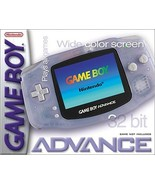 Nintendo Gameboy Advance Glacier Great Condition Fast Shipping - $53.94