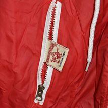 True Religion Red & Navy Blue Lined Reversible Windbreaker Hooded Jacket Size S image 3