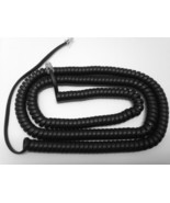 NEW 25 Foot Replacement Black Handset Curly Cord for Teledex Hotel Motel... - $3.99