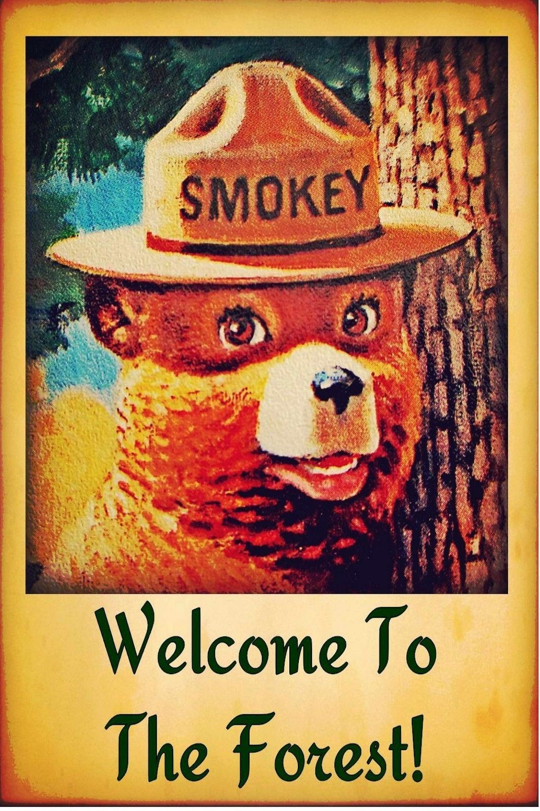 Primary image for SMOKEY BEAR POSTER | 24 x 36 INCH | WELCOME TO THE FOREST