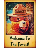 SMOKEY BEAR POSTER | 24 x 36 INCH | WELCOME TO THE FOREST - $15.41