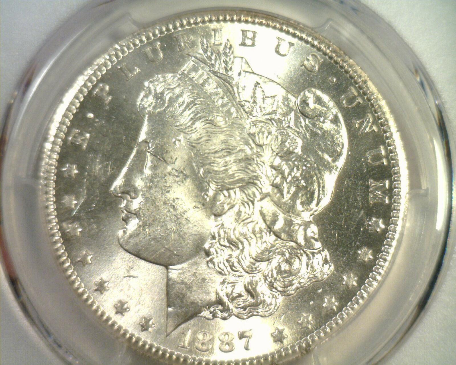 1887-S MORGAN SILVER DOLLAR PCGS MS63 NICE ORIGINAL COIN PREMIUM QUALITY PQ image 3