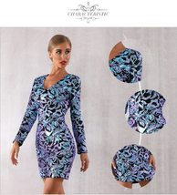 Sexy Sequin Long Sleeve Mini Luxury Club Dress image 2