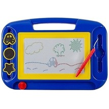 Magnetic Doodle Drawing Board For Kids Colorful Sketching Erasable Pad W... - $25.96