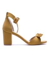 Woman Vegan Sandal Middle Chunky Block Heel Peep Toe Ankle-Strap Lined C... - $118.84