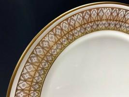 """Retired Mikasa Lacerna 6"""" Bread Plate Bone China-Gold Silver Green-7 Ava... - $5.94"""