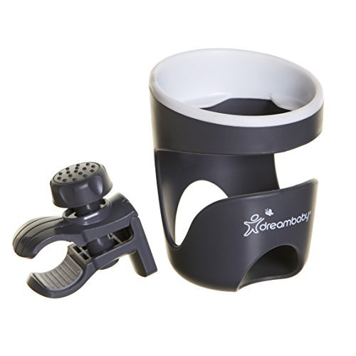 Dreambaby Strollerbuddy Drink Cup Holder, Grey/White