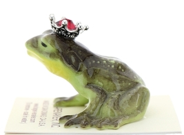 Hagen-Renaker Miniature Frog Prince Kissing Birthstone 07 July Ruby image 4