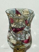 PARTYLITE MOSAIC VOTIVE PEGLITE CUP CANDLE HOLDER RETIRED - $17.99