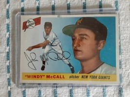JOHN WINDY McCALL ~ 1955 Topps Baseball Card #42, New York Giants ~ Not ... - $4.95