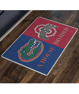 House Divided Sign Doormat Florida Gators Ohio State Man Cave Decor Welc... - $37.00