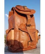 Men's Genuine Leather Backpack Laptop School Bag Book bag Travel Rucksac... - $56.50+