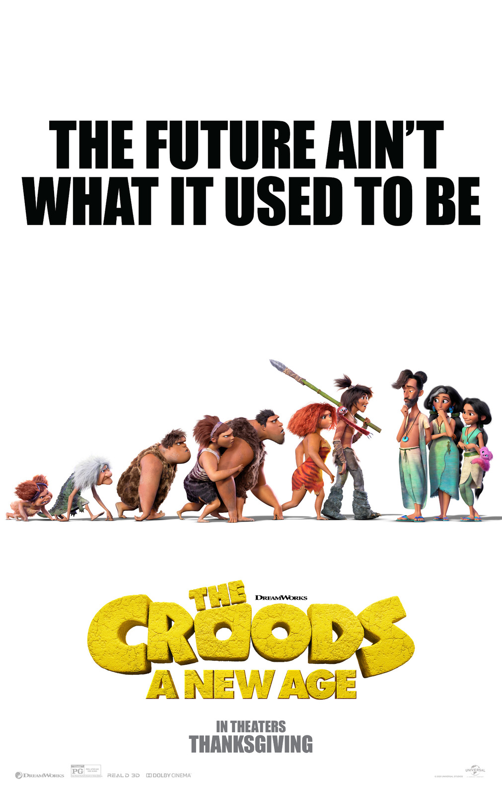 """The Croods A New Age Movie Poster Joel Crawford Animated Film Art Print 24x36"""" - £7.89 GBP - £14.42 GBP"""