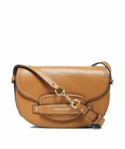 Michael Kors Women's Cary Medium Leather Saddle Crossbody Bag (Brown) - $349.90